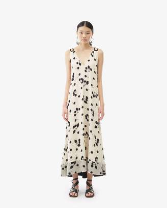 3.1 Phillip Lim Backless Cerise Print Maxi Dress
