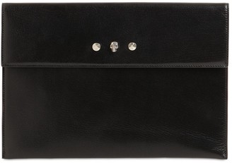 Alexander McQueen Envelope Leather Pouch