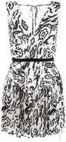 Self-Portrait Micro-Pleated Mini Dress