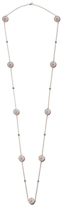 De Beers 18kt rose gold Enchanted Lotus Mother-of-Pearl diamond sautoir necklace