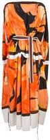 Proenza Schouler Marocaine printed cape dress