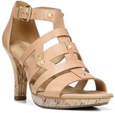 Naturalizer Womens Derive Leather Open Toe Dress Sandals, Beige, Size 9.0