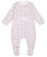 Petit Bateau Floral Bow Detail All-In-One