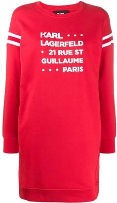 Karl Lagerfeld Paris Rue St. Guillaume sweatshirt dress