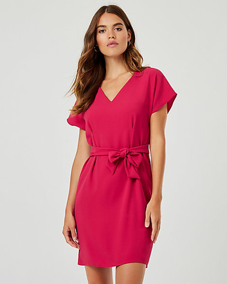Le Château Crepe de Chine V-Neck Dress