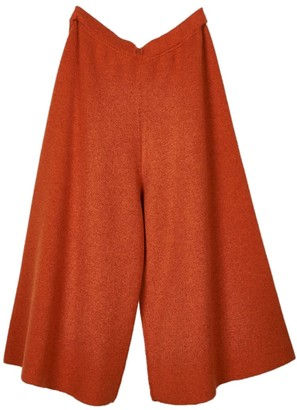 Oyuna Liv Cashmere Skirt Trousers In Flame & Wine Mix