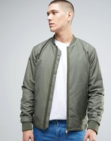 Selected Bomber Jacket With Two Way Zip