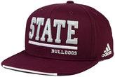 adidas Mississippi State Bulldogs Travel Flat Brim Snapback Cap