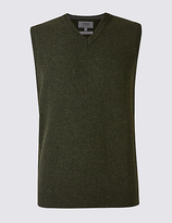 M&S Collection Pure Lambswool Slipover Jumper