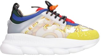Versace Chain Reaction Multicolor Leather Sneakers