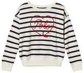 Ralph Lauren White and Navy Sweatshirt with Embroidered Branding