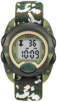 Timex Kids Green Camo Fabric Strap Digital Watch T719129J
