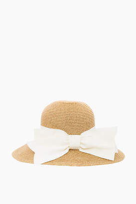 Toucan Hats Cream Packable Wide Bow Sunhat