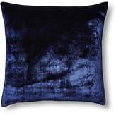 Linen Salvage Et Cie Silk Velvet/Chambray 22x22 Pillow - Navy