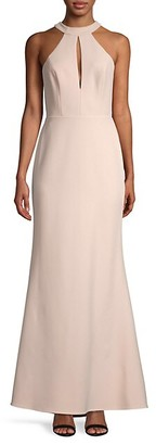 BCBGMAXAZRIA Cutout Halterneck Mermaid Gown