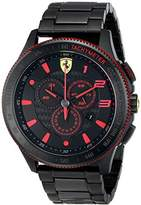 Ferrari Men's 0830142 Scuderia XX Analog-Display Quartz Black Watch