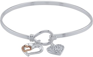 Brilliance+ Brilliance Friends Forever Two Tone Bangle With Swarovski Crystals