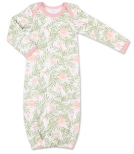 The Peanut Shell The Baby Girl Tropical Girl Floral Print Sleep Gown
