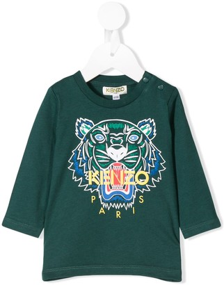 Kenzo embroidered tiger logo top