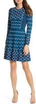 Eliza J Fit & Flare Long Sleeve Sweater Dress