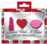 Danielle Creations 3-Piece Sealed With A Kiss Shaped Non-Latex Makeup Blending Sponges