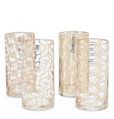 Southern Living Holiday 4-Piece Geometric Highball Glass Set
