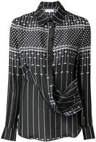 Carven printed draped shirt