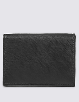 M&S Collection Leather Saffiano Card Case Wallet