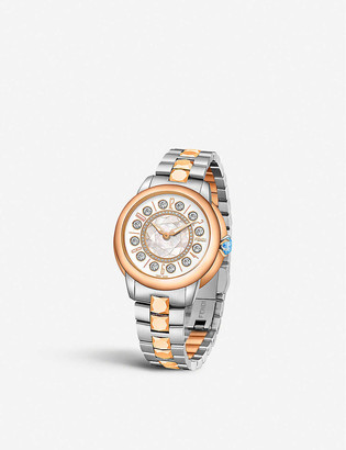 Fendi Timepieces F121224500D2T07 IShine stainless steel and 18ct rose-gold watch
