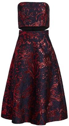 Rachel Comey Cotenna Jacquard Strapless Flare Dress