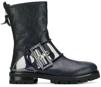 AGL buckled mid-calf boots