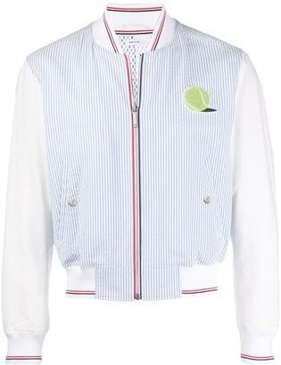 Thom Browne Ball Patch Seersucker Stripe Jacket
