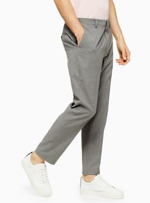 Topman Light Grey Marl Slim Fit Suit Trousers