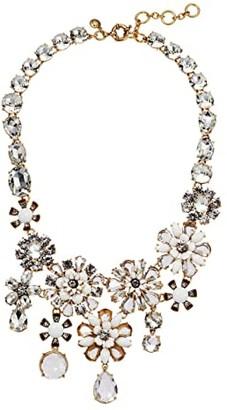 J.Crew Bloom Flower Statement Necklace (Crystal) Necklace