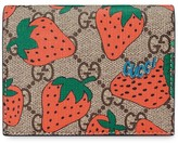 Gucci GG card case with Strawberry print