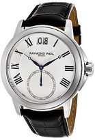 Raymond Weil 9578-STC-00300 Men's Tradition Black Genuine Leather White Dial
