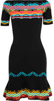 Peter Pilotto Intarsia Stretch-knit Dress - Black