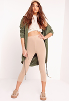 Missguided Cropped Leggings Nude