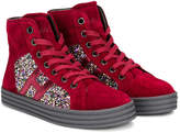 Hogan glitter panel hi-top sneakers