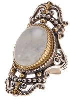 Konstantino Sterling Silver & 18K Gold Erato Framed Labradorite Ring - Size 7