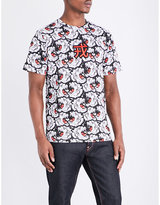Evisu Tiger-print Cotton-jersey T-shirt