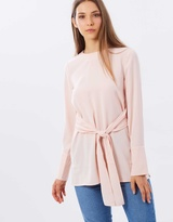 Warehouse Tie Front Tunic