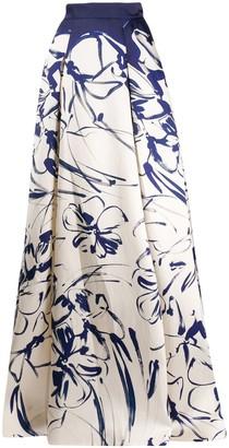 Talbot Runhof Sea floral skirt