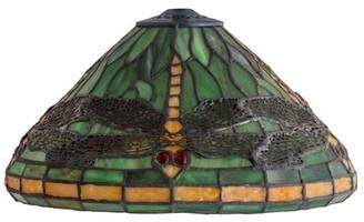 "Rosalind Wheeler Dragonfly 12"" Glass Empire Lamp Shade"