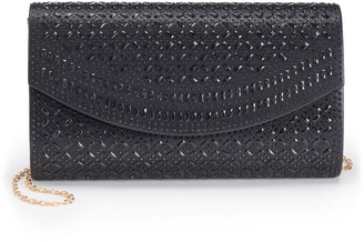 La Regale Lenore By Lenore by Lattice Pattern Flap Clutch