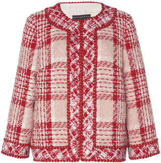 Andrew Gn Checked Tweed Jacket
