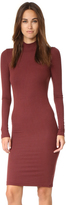 ATM Anthony Thomas Melillo Long Sleeve Mock Neck Dress