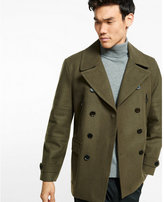 Express wool blend moto peacoat