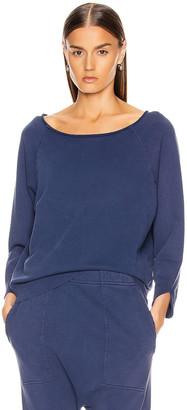 Nili Lotan Luka Scoop Sweatshirt in French Blue   FWRD