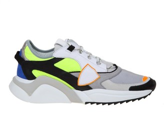 Philippe Model Eze Sneakers Color Gray And Green